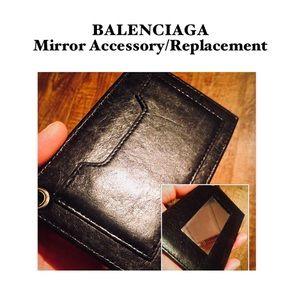 Auth BALENCIAGA Mirror Attachment Accessory Black